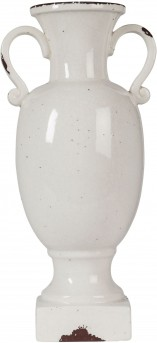 Ashley Dierdra Large Antique White Vase Available Online in Dallas Fort Worth Texas