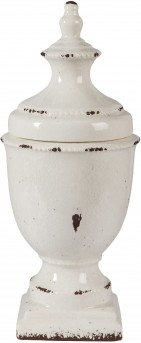 Ashley Devorit Small Antique White Jar Available Online in Dallas Fort Worth Texas