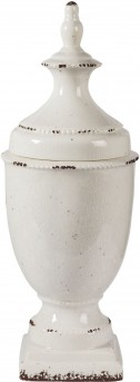 Ashley Devorit Large Antique White Jar Available Online in Dallas Fort Worth Texas