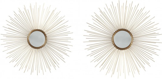 Ashley Doniel Antique Gold Accent Mirror Set of 2 Available Online in Dallas Fort Worth Texas