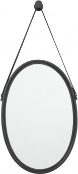 Ashley Dusan Black Oval Accent Mirror Available Online in Dallas Fort Worth Texas