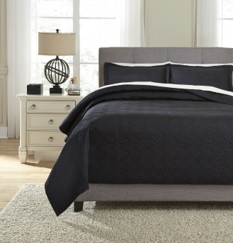 Aldis Black King Coverlet Set Available Online in Dallas Fort Worth Texas
