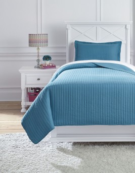 Ashley Raleda Turquoise Twin Coverlet Set Available Online in Dallas Fort Worth Texas