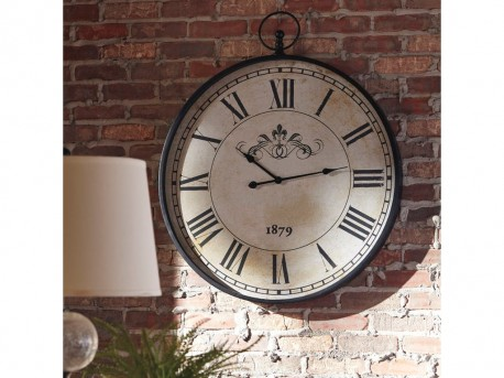 Ashley Augustina Antique Black Wall Clock Available Online in Dallas Fort Worth Texas