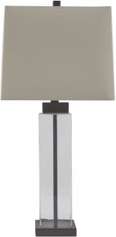 Ashley Alvaro Clear & Bronze Glass Table Lamp Set of 2 Available Online in Dallas Fort Worth Texas