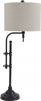 Ashley Anemoon Black Metal Table Lamp Available Online in Dallas Fort Worth Texas