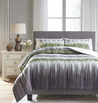 Ashley Agustus Gray/Green Queen Comforter Set Available Online in Dallas Fort Worth Texas