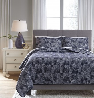 Ashley Jabesh Navy King Quilt Set Available Online in Dallas Fort Worth Texas