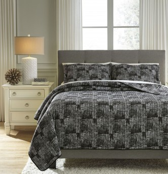 Ashley Jabesh Black King Quilt Set Available Online in Dallas Fort Worth Texas