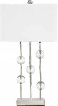 Ashley Jaala Clear & Silver Metal Lamp Available Online in Dallas Fort Worth Texas