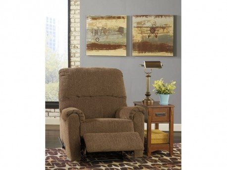Ashley Pranit Walnut Zero Wall Recliner Available Online in Dallas Fort Worth Texas
