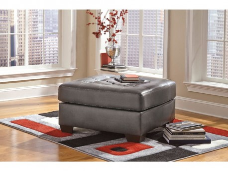 Ashley Alliston DuraBlend Gray Oversized Accent Ottoman Available Online in Dallas Fort Worth Texas