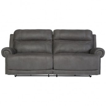 Ashley Austere Gray Reclining Power Sofa Available Online in Dallas Fort Worth Texas