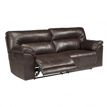 Ashley Barrettsville Durablend Chocolate Reclining Power Sofa Available Online in Dallas Fort Worth Texas