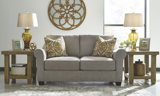 Ashley Leola Slate Loveseat Available Online in Dallas Fort Worth Texas