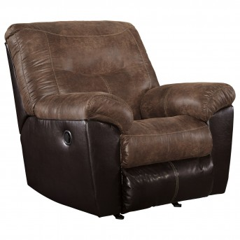 Ashley Follett Coffee Rocker Recliner Available Online in Dallas Fort Worth Texas