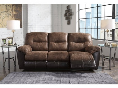Ashley Follett Coffee Reclining Sofa Available Online in Dallas Fort Worth Texas