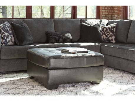 Ashley Owensbe Accents Oversized Charcoal Ottoman Available Online in Dallas Fort Worth Texas