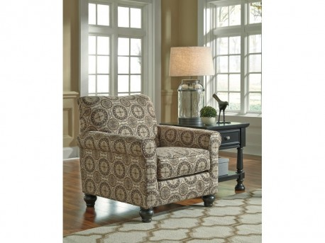 Ashley Breville Burlap Accent Chair Available Online in Dallas Fort Worth Texas
