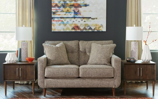Ashley Chento Jute Loveseat Available Online in Dallas Fort Worth Texas