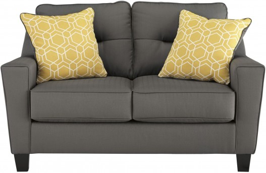 Ashley Forsan Nuvella Gray Loveseat Available Online in Dallas Fort Worth Texas