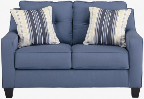 Ashley Aldie Nuvella Blue Loveseat Available Online in Dallas Fort Worth Texas