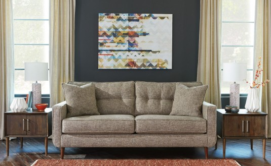 Ashley Chento Jute Sofa Available Online in Dallas Fort Worth Texas