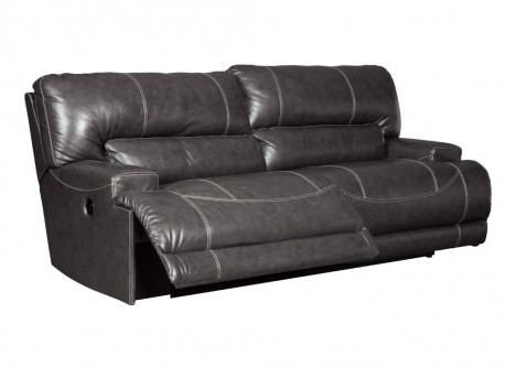 Ashley McCaskill Gray Reclining Power Sofa Available Online in Dallas Fort Worth Texas