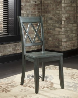 Mestler Antique Blue Side Chair Available Online in Dallas Fort Worth Texas