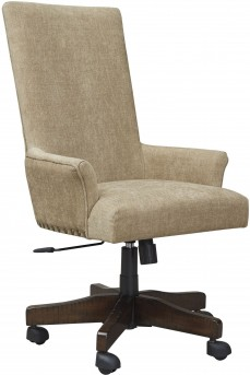 Ashley Baldridge Light Brown Swivel Desk Chair Available Online in Dallas Fort Worth Texas