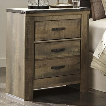 Ashley Trinell Two Drawer Night Stand Available Online in Dallas Fort Worth Texas