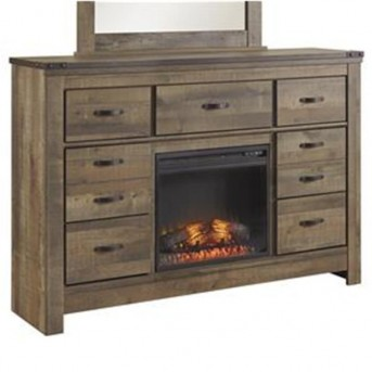 Ashley Trinell Dresser with Fireplace Option Available Online in Dallas Fort Worth Texas
