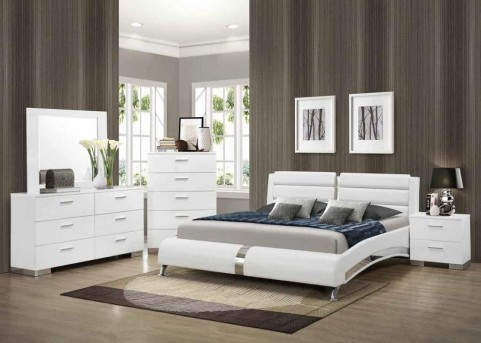 Coaster Felicity Queen Curved Bed Available Online in Dallas Fort Worth Texas