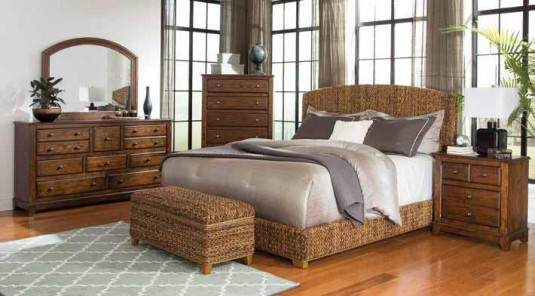 Coaster Laughton King Natural Woven Bed Available Online in Dallas Fort Worth Texas