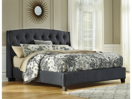 Ashley Kasidon Grey King Upholstered Rail Available Online in Dallas Fort Worth Texas