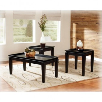 Ashley Delormy Black Coffee Table Set Available Online in Dallas Fort Worth Texas