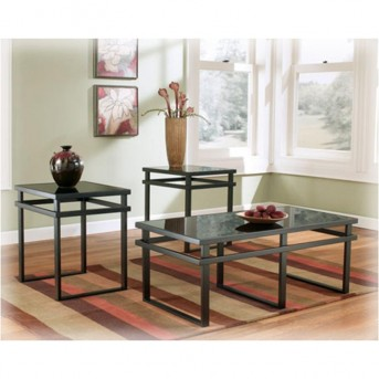 Ashley Laney 3pc Black Coffee Table Set Available Online in Dallas Fort Worth Texas