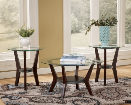 Ashley Fantell 3pc Dark Brown Coffee Table Set Available Online in Dallas Fort Worth Texas