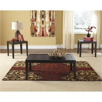 Ashley Birstrom 3pc Black Coffee Table Set Available Online in Dallas Fort Worth Texas