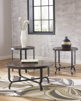 Ashley Ferlin 3pc Dark Brown Coffee Table Set Available Online in Dallas Fort Worth Texas