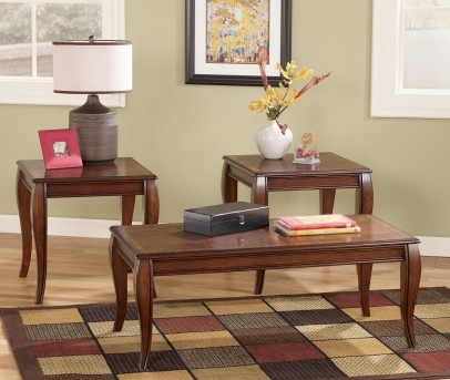 Ashley Mattie 3pc Reddish Brown Coffee Table Set Available Online in Dallas Fort Worth Texas