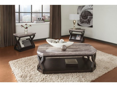 Ashley Radilyn 3pc Grayish Brown Coffee Table Set Available Online in Dallas Fort Worth Texas