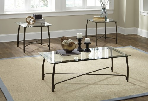 Ashley Burmesque Bronze 3pc Coffee Table Set Available Online in Dallas Fort Worth Texas