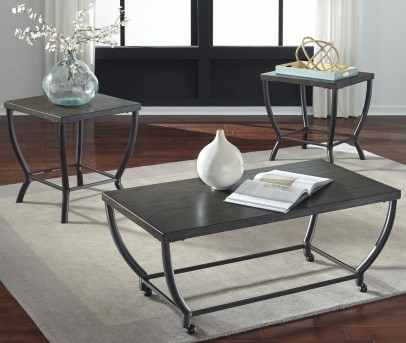 Ashley Champori 3pc Grayish Brown Coffee Table Set Available Online in Dallas Fort Worth Texas