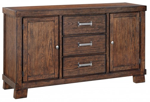 Leystone Dark Brown Dining Room Server Available Online in Dallas Fort Worth Texas