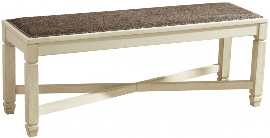 Ashley Bolanburg Large Upholstered Dining Bench Available Online in Dallas Fort Worth Texas