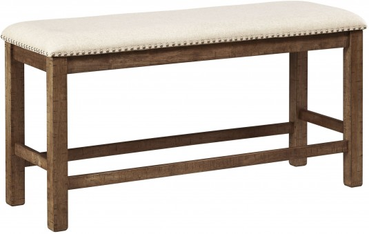 Moriville Beige Upholstered Bench Available Online in Dallas Fort Worth Texas