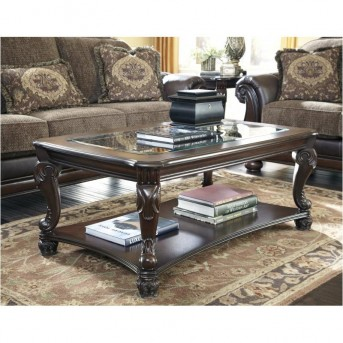 Ashley Norcastle Dark Brown Coffee Table Available Online in Dallas Fort Worth Texas