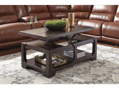 Ashley Rogness Rustic Brown Rectangular Coffee Table Available Online in Dallas Fort Worth Texas