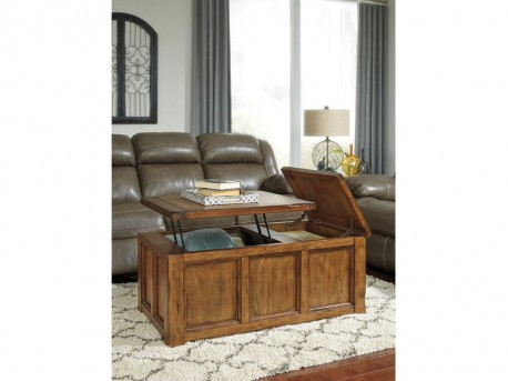 Ashley Tamonie Medium Brown Coffee Table Available Online in Dallas Fort Worth Texas